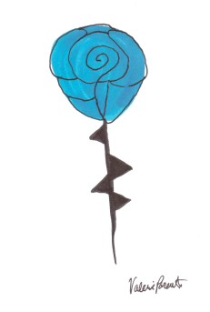 """Blue Rose"" by Valerie Parente"